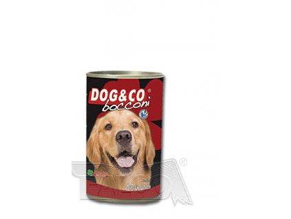 DOG&CO chunky hovězí 400g