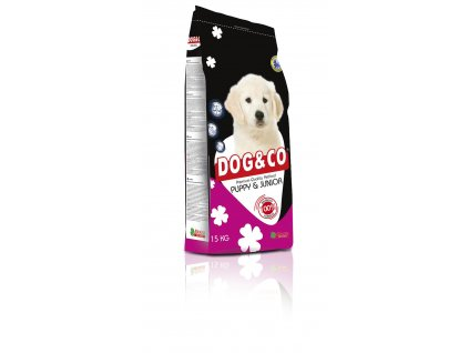 DOG & CO Puppy & Junior 15 kg