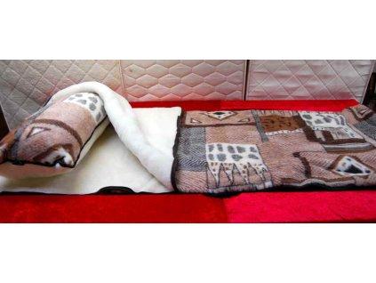 Spací pytel + polštář 40x80 cm vzor Peru