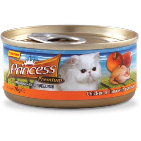 PRINCESS TINS PREMIUM 70 g varianta: PRINCESS TINS PREMIUM kuře a tuňák s krevetami