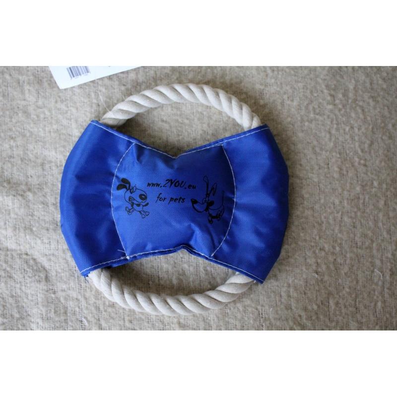 Pískací provazové frisbee