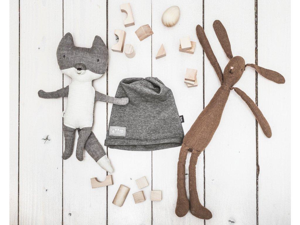Lichi mini čepice šedá