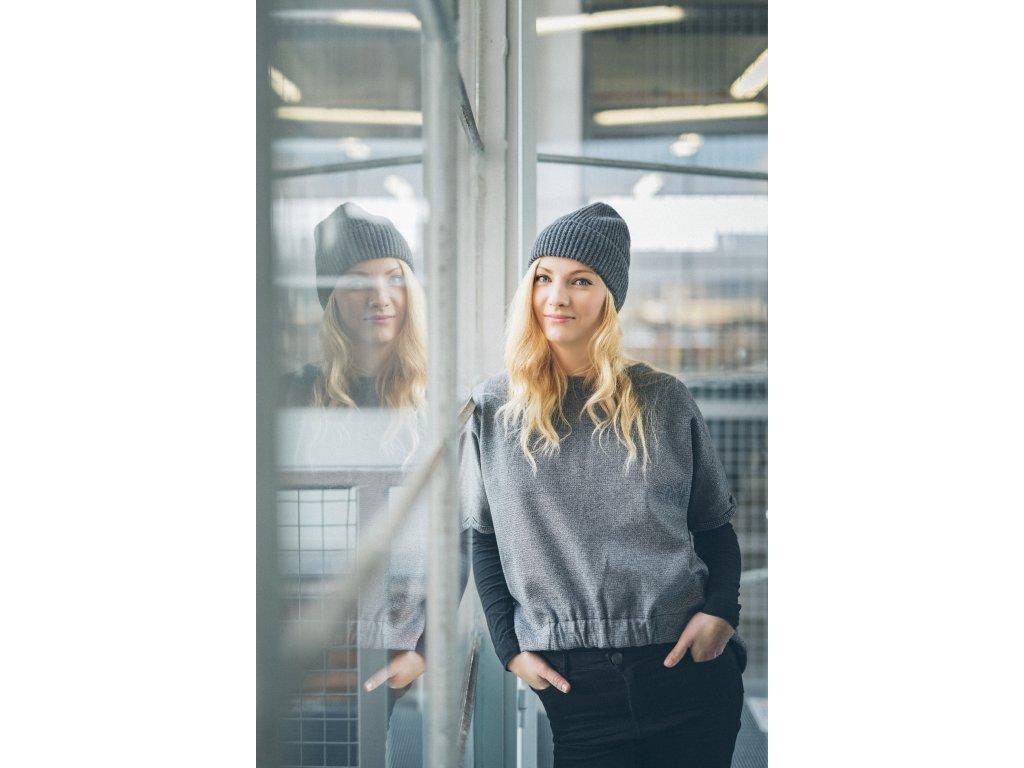 Croppy mikina tweed