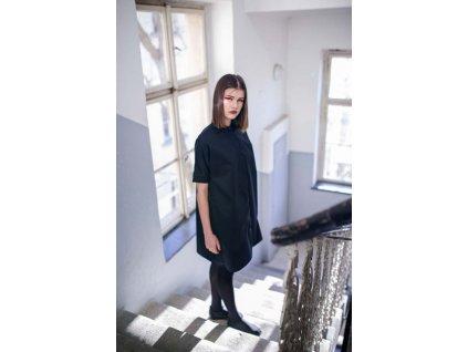 Shirty černé košilové šaty