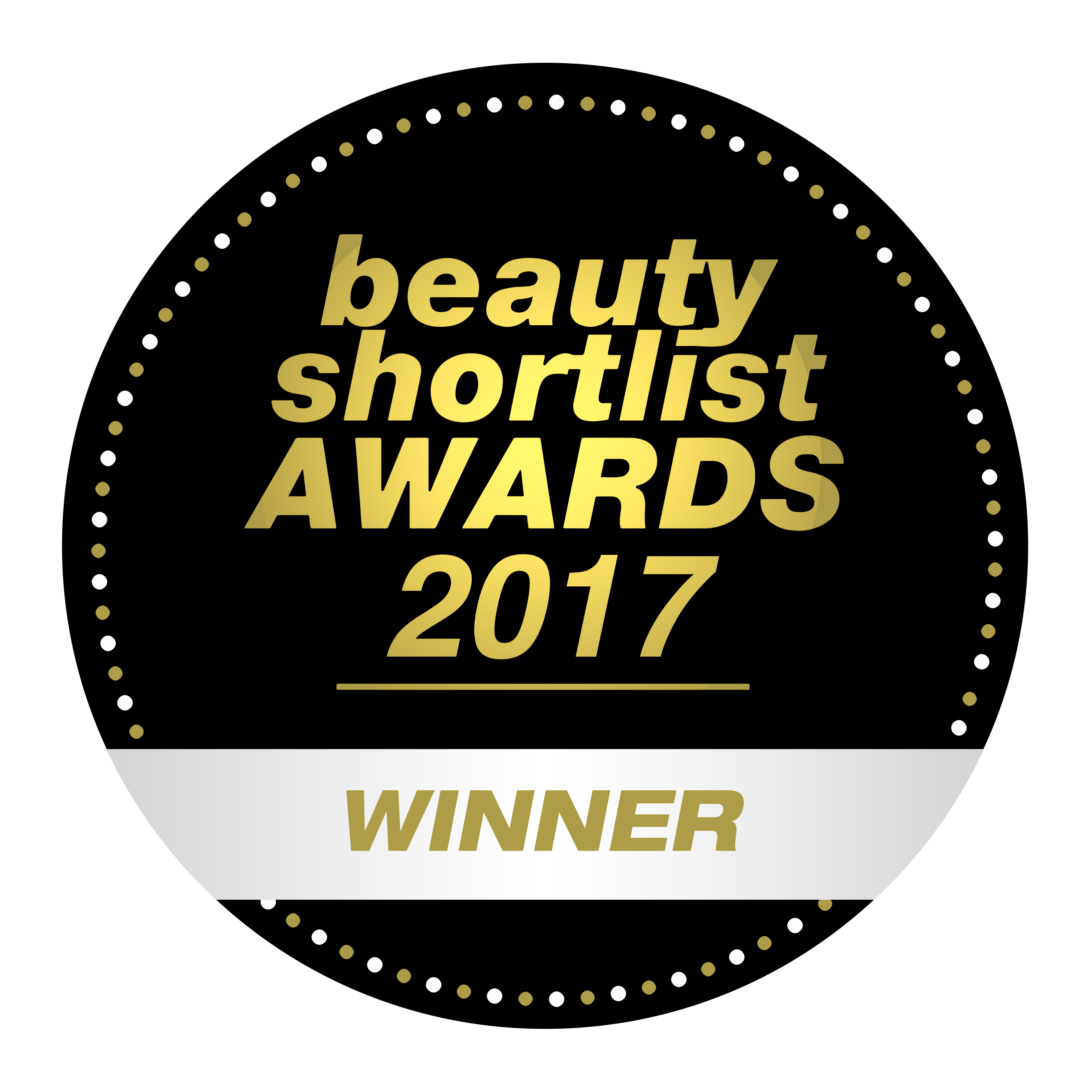 WINNER 2017 BEAUTY SHORTLIST AWARDS 300dpi
