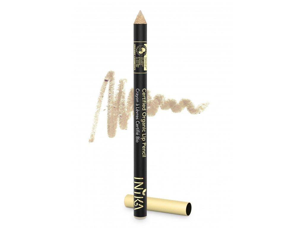 INIKA Certified Organic Lip Pencil 1.2g Buff With Product