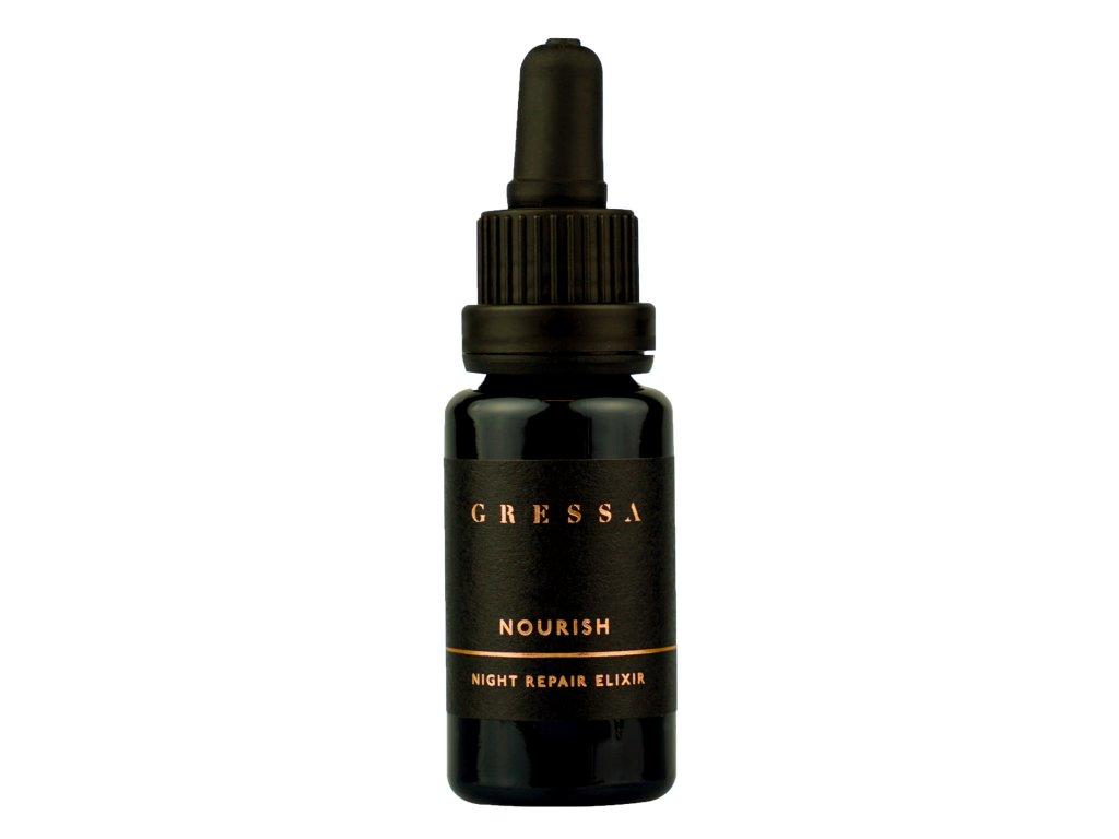 Gressa Skin Night Repair Elixir - Přírodní výživný olej s rakytníkem a grepovým olejem