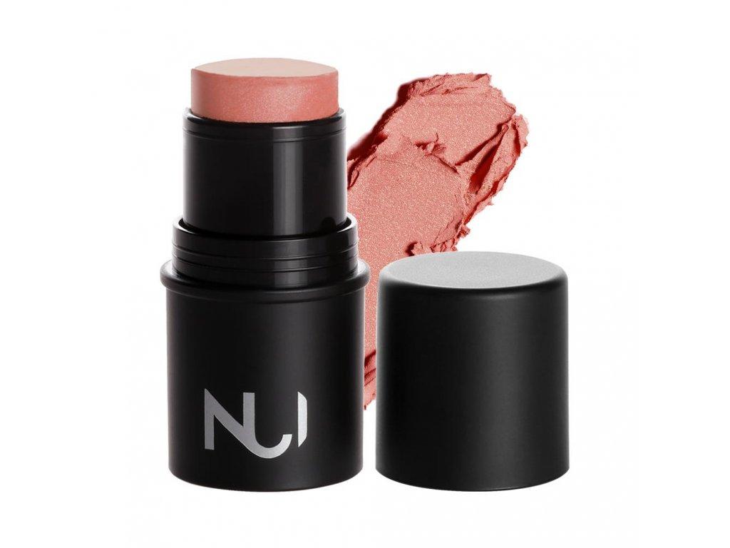 cream blush karamere product smear