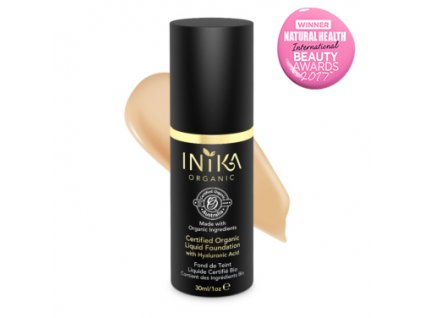 inika certified organic liquid foundation honey 30ml with product 1 (1)