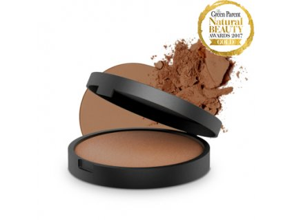 inika baked mineral bronzer 8g sunbeam with product 2 1 kopie