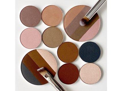 Kjaer Weis Luxusní přírodní paleta očních stínů The Quadrant - náplň 5 g