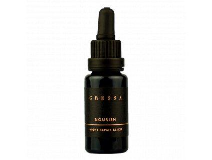 Gressa Skin Night Repair Elixir BYE BYE - Přírodní výživný olej s rakytníkem a grepovým olejem