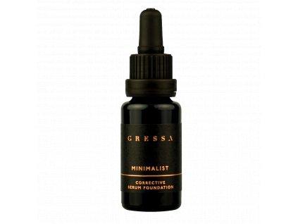 Gressa Minimalist Corrective Serum Foundation BYE BYE 01 - Přírodní tekutý plně krycí makeup 15 ml