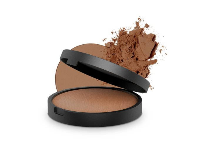 inika baked mineral bronzer 8g sunbeam with product 2 1