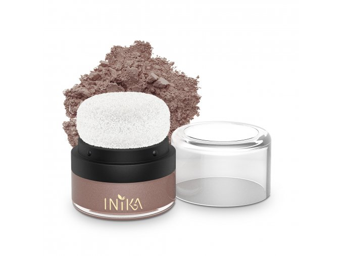 INIKA Mineral Puff Pot 3g Rosy Glow With Product