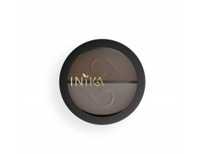 INIKA Pressed Mineral Eye Shadow Duo 8g Choc Coffee Closed