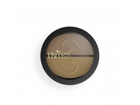 INIKA Pressed Mineral Eye Shadow Duo 8g Gold Oyster Closed