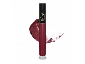 INIKA Certified Organic Lip Glaze Cherry 3.5g With Swatch
