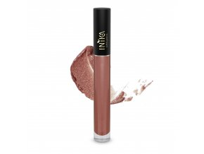 INIKA Certified Organic Lip Glaze Cinnamon 3.5g With Swatch