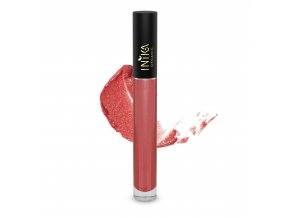 INIKA Certified Organic Lip Glaze Coral 3.5g With Swatch