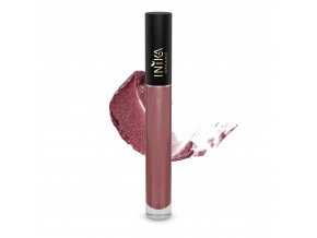 INIKA Certified Organic Lip Glaze Rosewood 3.5g With Swatch