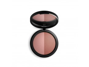 inika baked mineral blush duo 8g top burnt peach