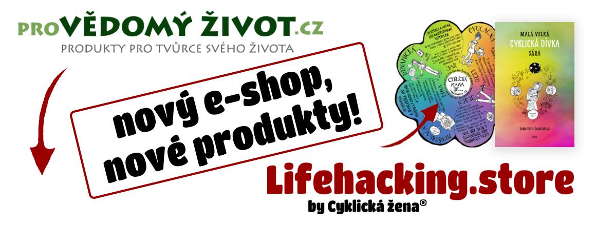 Nový e-shop projektu Cyklická žena: Lifehacking.store!