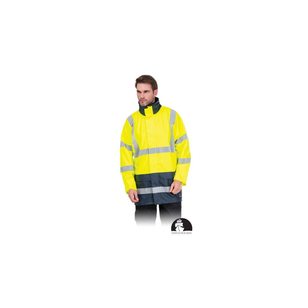 Žltá reflexná bunda s reflexnými pruhmi LH LIGHTNING YG