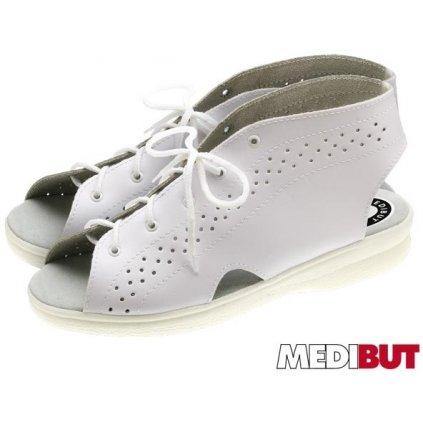 Pracovná obuv biela značky MEDIBUT :BMPROFI (Farba Biela, Veľkosť 41)