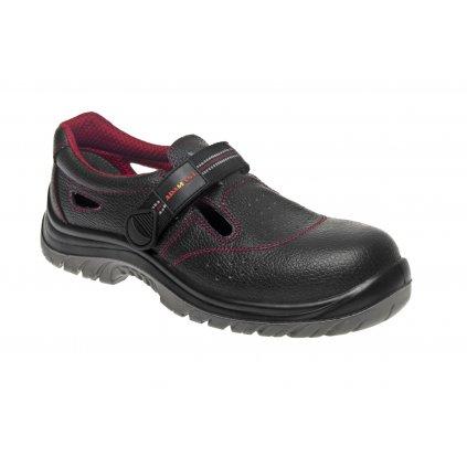 ZS - ADM NON METALLIC: Sandále S1 C21012 (Veľkosť 47, Farba čierna)