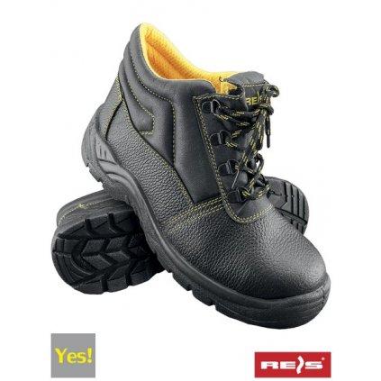 RW00 - BRYES-T-OB Pracovná členková obuv (Veľkosť 47, Farba čierna)