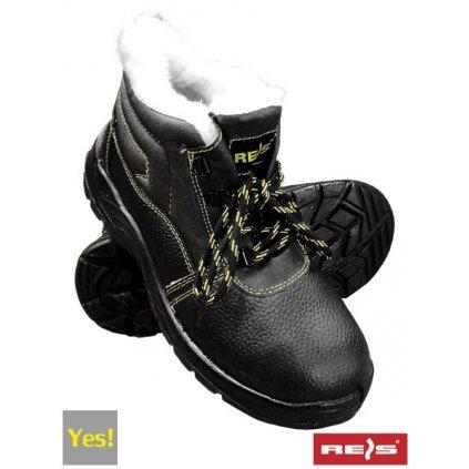 RW00 - BRYES-TO-OB Zateplená pracovná obuv (Veľkosť 47, Farba čierna)