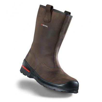 Vysoká kožená bezpečnostná obuv HECKEL MACSOLE 1.0 BFX 1 6264004 (Farba hnedá, Veľkosť 36)