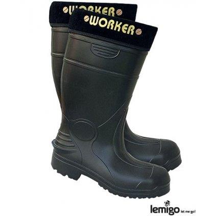 RW00-BLWORKER Pracovná zateplená obuv (Veľkosť 47, Farba čierna)