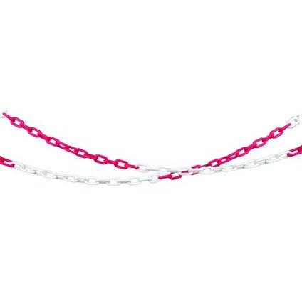 PVC reťaz, červeno-biely 1meter