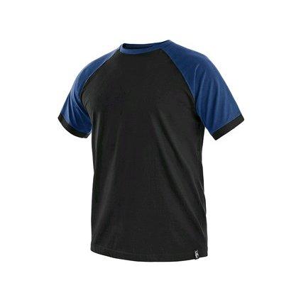Tričko s krátkym rukávom OLIVER, čierno-modré, veľ. 3XL
