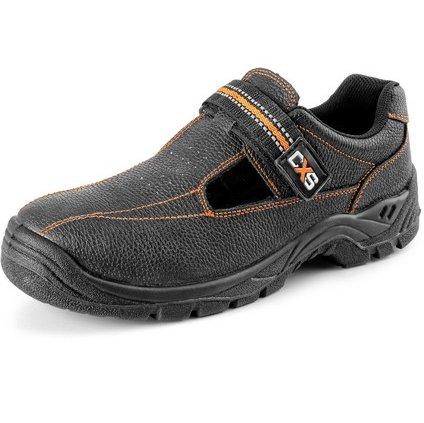 Obuv sandál CXS STONE nefritu S1, čierny, veľ. 50