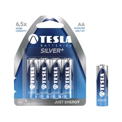 Batérie TESLA AA Silver +, tužková, 4ks