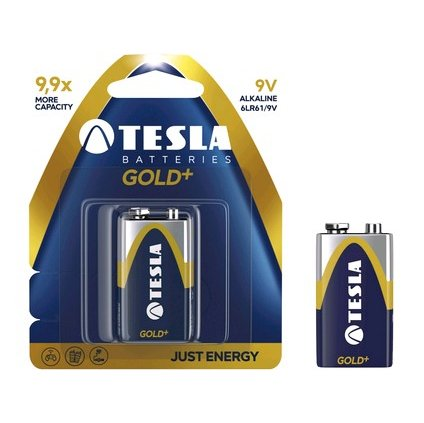 Batérie TESLA 9V GOLD +