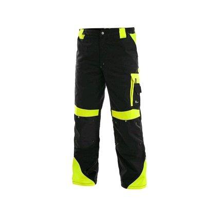 Nohavice do pása CXS SIRIUS BRIGHTON, zimné, pánske, čierno-žlté, vel.60-62