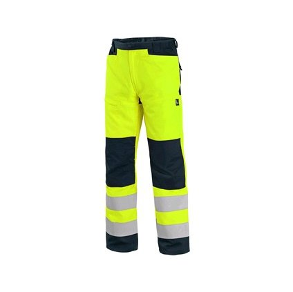 Žlté výstražné nohavice do pása Nohavice CXS HALIFAX