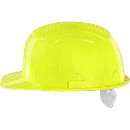 Kvalitná fluorescenčná žltá ochranná prilba CXS STAVBÁR