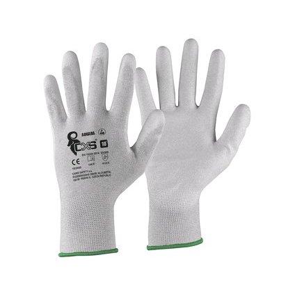 Pracovné antistatické  rukavice CXS ADGARA s potiahnutou dlaňou a prstami