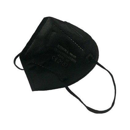 Respirator FFP2 bez ventilu, čierny