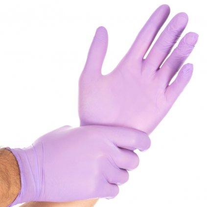 safe light fialove nitrilove rukavice