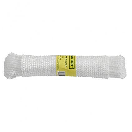 Snura na prádlo Cloth-Line 20 m/4 mm, PP, biela