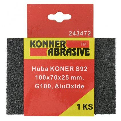 Huba KONNER S92 100x70x25 mm, G220, AluOxide, brúsna špongia