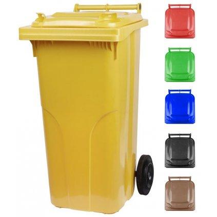 Nádoba MGB 240 lit, plast, žltá, popolnica na odpad
