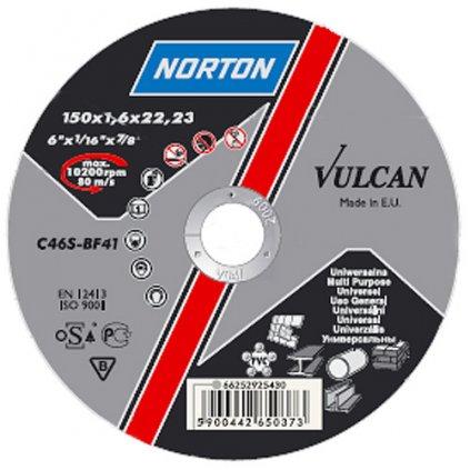 Kotúč NORTON Vulcan A 125x6,4x22 A30S-BF27, brúsny na kov a nerez