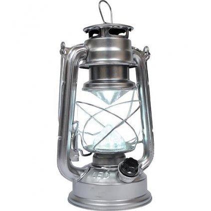 Lampas MagicHome LM3528, 15 LED, 15x11.5x23.5 cm, 4xAA, kov, strieborný